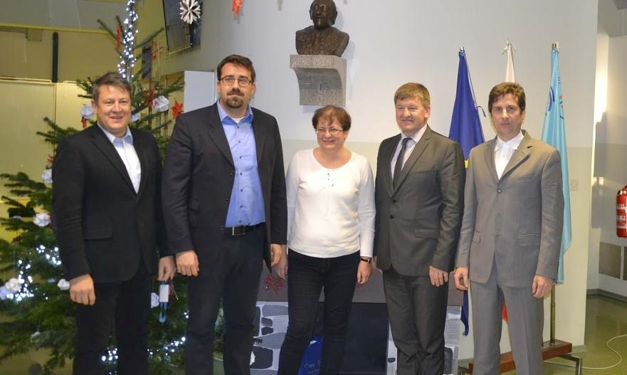 Obisk evropskega poslanca in novoletna prireditev